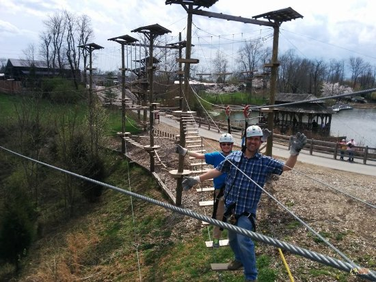 Petersburg, KY: Tight ropes, suspension bridges, catwalks, and more! Our obstacle course offers a variety for al