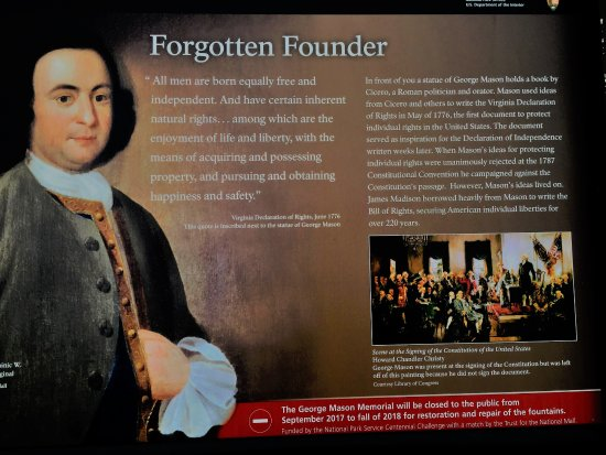 George Mason Memorial: Forgotten Founder George Mason
