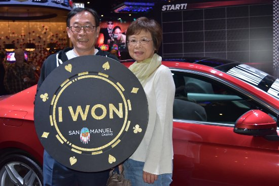 ‪‪Highland‬, كاليفورنيا: Chris and his wife won his and her 2018 Audi A5s at San Manuel Casino on Feb. 8, 2018.‬