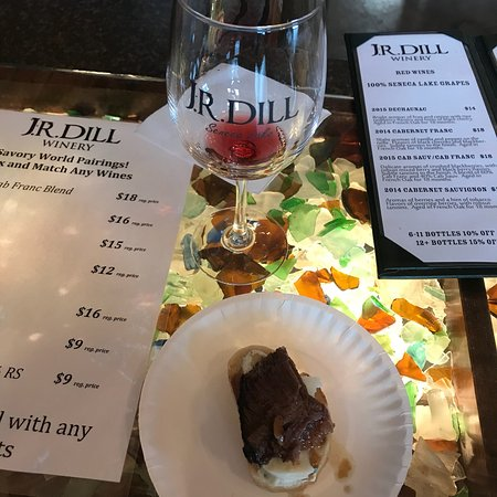 J.R. Dill Winery: A great way to start 2018 Savory World of Seneca Weekend! Great staff & amazing food and wine.