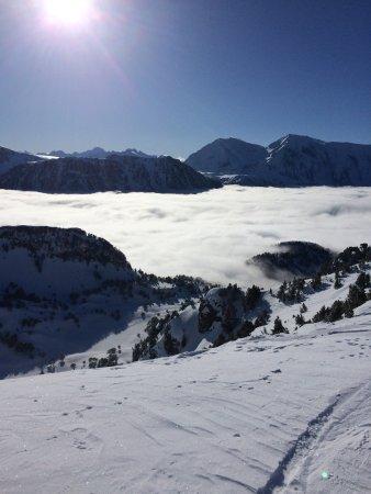 Auberge du Virage : en haut du domaine skiable de Chamrousse