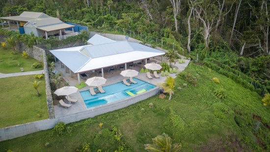 Pagua Bay House Oceanfront Cabanas: Drone footage of hotel and suites - post Hurricane Maria 2018