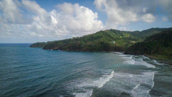 Marigot, Dominica: View from hotel - post Hurricane Maria 2018