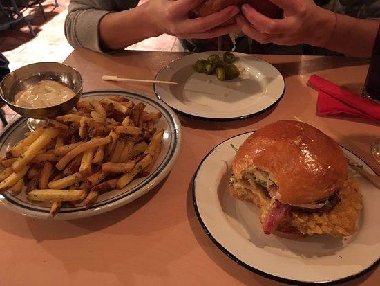 Skaptoburger: Bitcoin burger and fries.