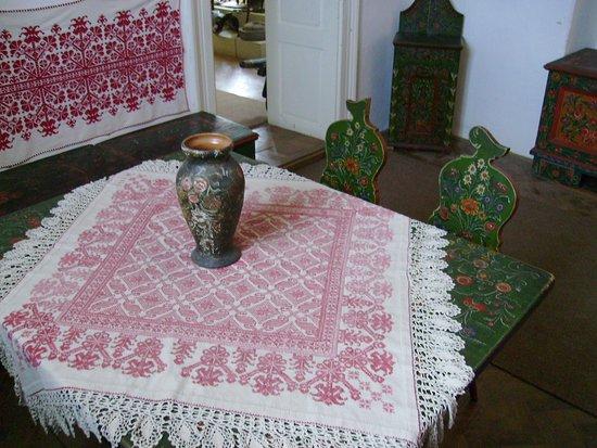 Painted furniture in the museum (Rimetea)