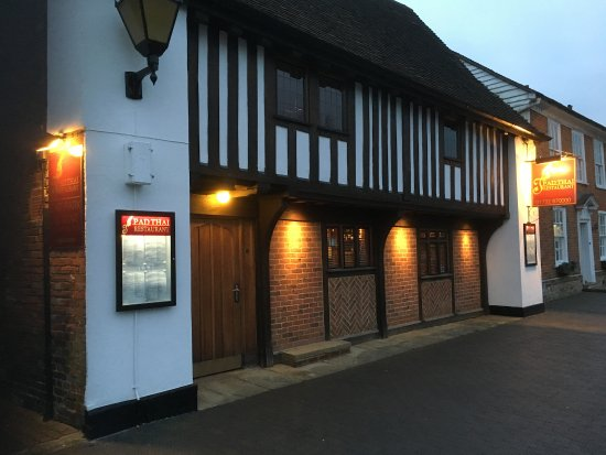 West Malling, UK: Front view of this lovely building which has housed Pad Thai restaurant for the last 21 years.