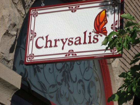 Steamboat Springs, CO: Chrysalis store sign