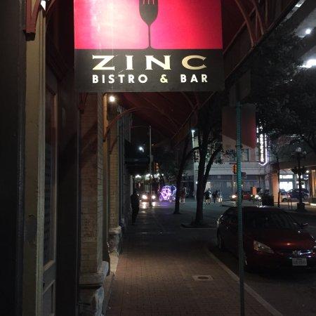 Zinc Bistro And Bar San Antonio Downtown Menu Prices