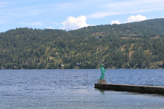 Sandpoint, ID: Miniature Statue of Liberty (light) on the Pier