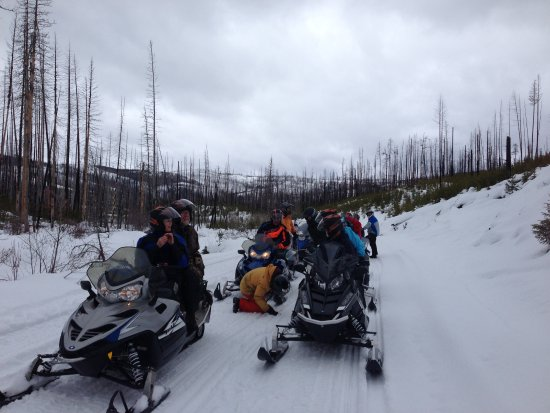 Snowmobiling West of Seeley Lake