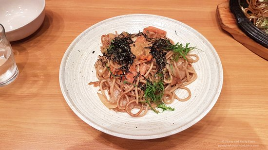 yakisoba with sea urchin and scallops 文京区 まるしょう 本郷三