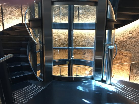 Museum Of Old And New Art: Elevator And Part Of Spiral Staircase