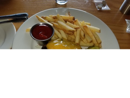 Roots Restaurant and Bar: Hamburger sans the bun; good but forget the cheese if eating w/out the bun as it just congeals