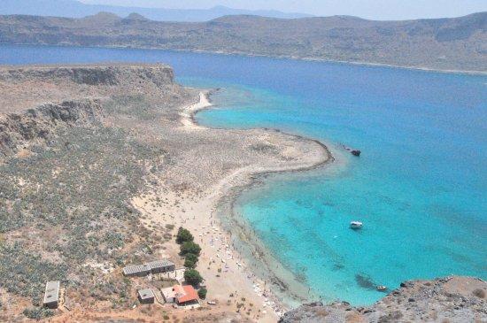Gramvousa, Greece: вид на бухточку