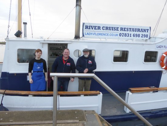 Orford, UK: L to R - David assistant Chef, Craig Chef & Owner, Jon Captain