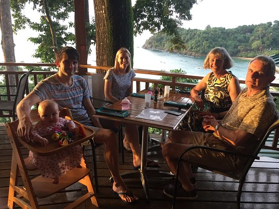 Castara Retreats: Our family enjoys great view from restuarant