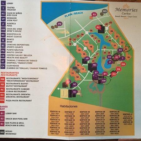 Memories Caribe Beach Resort Map photo0.   Picture of Memories Caribe Beach Resort, Cayo Coco