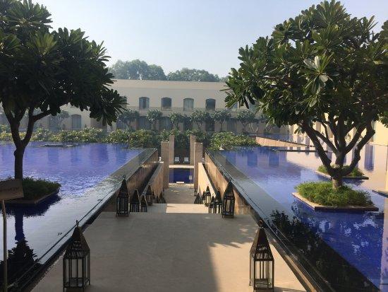 Trident, Gurgaon : Path to pool area