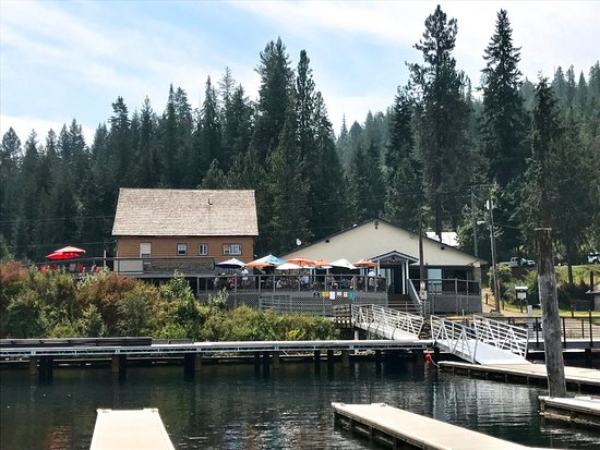 Harrison, ID: Restaurant from the boat