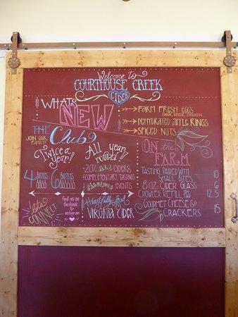 Maidens, VA: Chalkboard Door