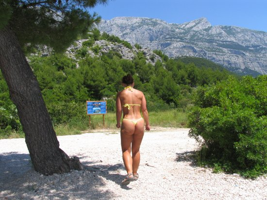 Makarska, Croatia: view from the beach