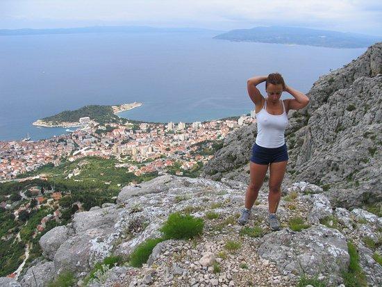 Biokovo Mountain: view from half way up the climb
