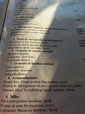 Faja da Ovelha, Portugal: Restaurante O Precipicio