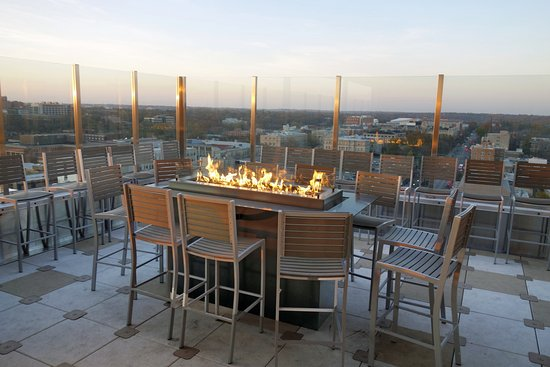 Genial Outside Patio At Vue Rooftop Restaurant