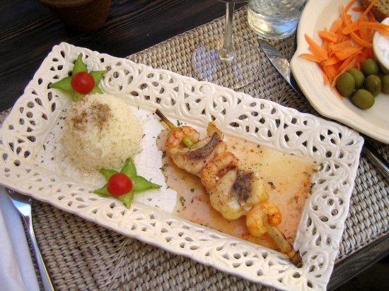Cassai : Fisch- und Meeresfrüchtespieß