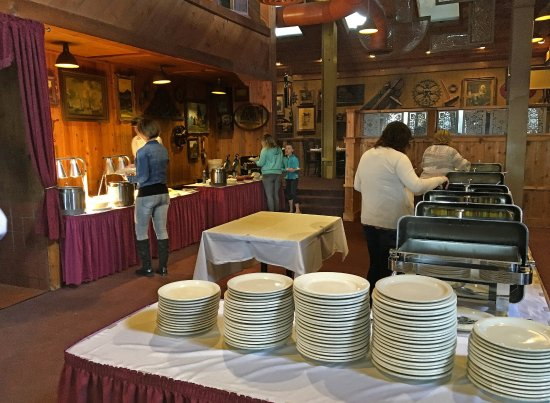 Sunday buffet at Iowa River Power Restaurant, Coralville IA