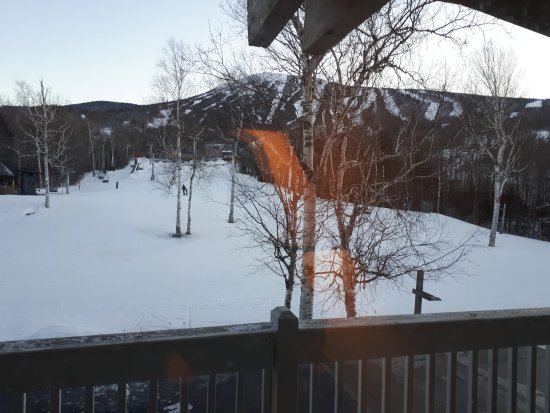 Carrabassett Valley, ME: Room with a view, and what a view it is!