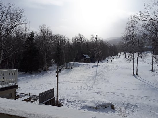 Carrabassett Valley, ME: Just a few steps away and you are on the slopes.