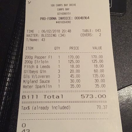 The Hussar Grill Camps Bay: photo4.jpg