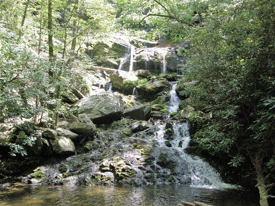 Old Fort, NC: The lower Catawba Falls is terraced.