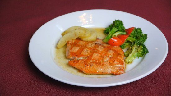Grilled Salmon Fillet From The Early Value Dinner Menu Served 4pm To