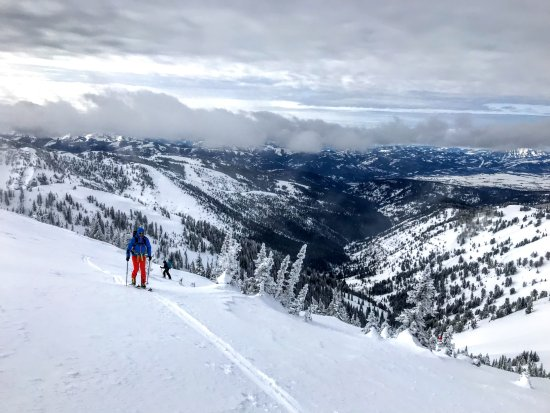 Alta, WY: Skinning up to 10,000+ feet for a great bowl run