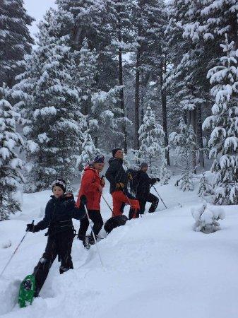 Dombas, Norwegen: snowshoe trip