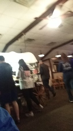 Auburn, AL: Gathering at the salad bar.
