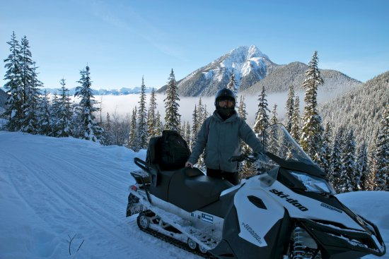 Golden, Canada: Canadian Rockies, snowmovile tour with White N'Wild