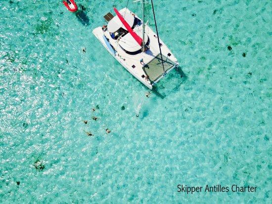 Le Marin, มาร์ตินีก: ⚓⛵Baignade dans notre piscine géante bleu turquoise à 28°