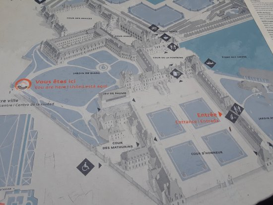 Fontainebleau map of grounds with garden entrance Picture of