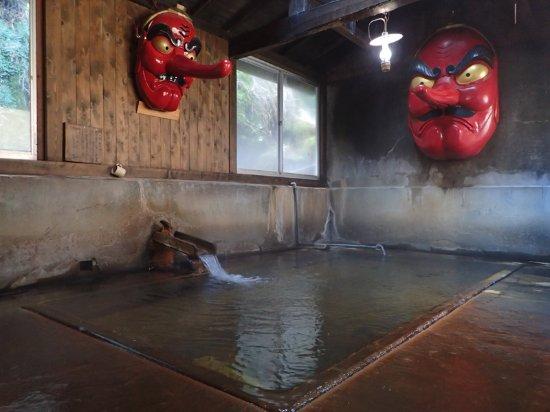 Kita Onsen Ryokan: 天狗の湯 (混浴) 加水しないと熱くて入れない