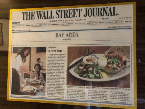 Burma Superstar Restaurant: written up in The Wall Street Journal