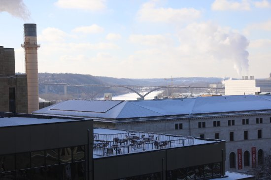 The Saint Paul Hotel: View out the window towards the Mississippi River.