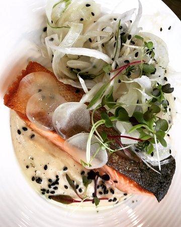 Raetihi, Νέα Ζηλανδία: Salmon with fennel.