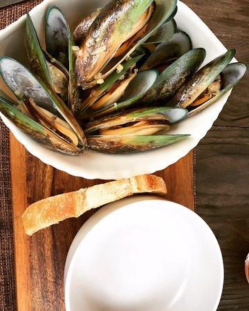 Raetihi, Νέα Ζηλανδία: Greenlip mussles - delicious!