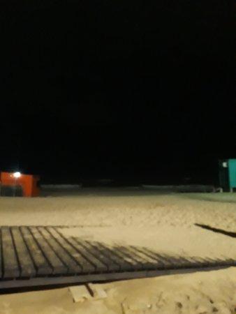 Balneario Peter: playa nocturna