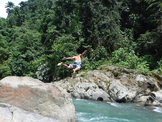 Sumatra Paradise Day Tours: campsite river fun