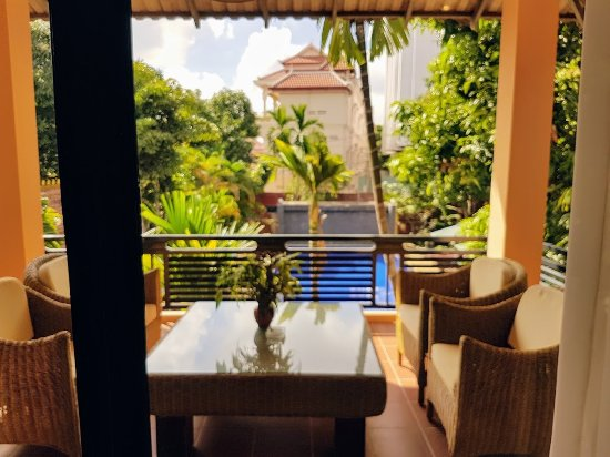 Central Boutique Angkor Hotel: view from the family room