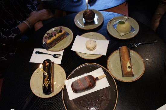 A fine selection of Milse pastries and icecream